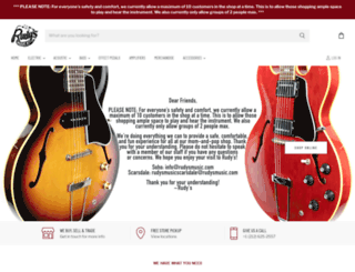 rudysmusic.com screenshot