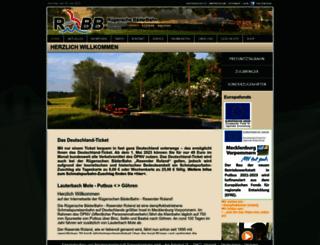 ruegensche-baederbahn.de screenshot
