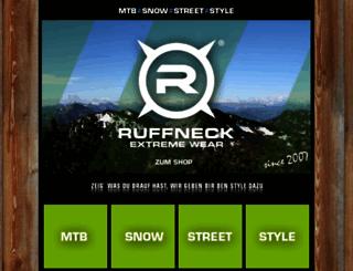 ruffneck-extreme-wear.de screenshot