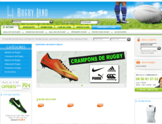 rugbyland.fr screenshot