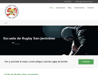 rugbysanjeronimo.org screenshot