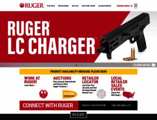 ruger.com screenshot