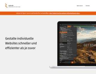 rukzuk.com screenshot