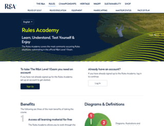 rulesacademy.randa.org screenshot