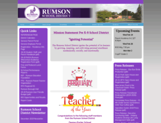 rumsonschool.org screenshot