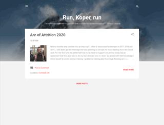 run-koper-run.blogspot.com screenshot