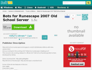 runescape-old-school-2007-server-bot.soft112.com screenshot