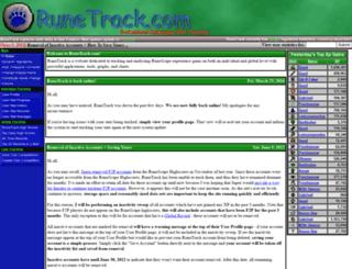 runetrack.com screenshot