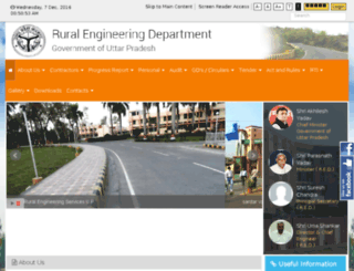 ruralengineering.up.nic.in screenshot