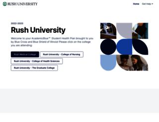 rush.myahpcare.com screenshot