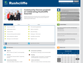 rushcliffe.gov.uk screenshot
