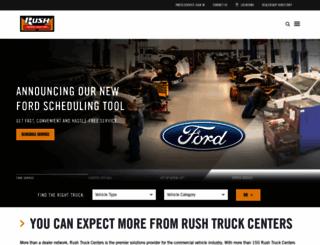 rushtruckcenters.com screenshot