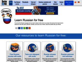 russianforfree.com screenshot