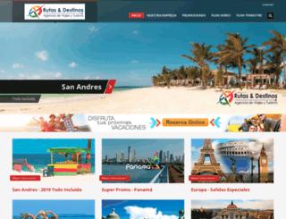 rutasydestinos.com.co screenshot