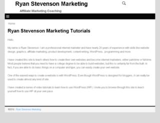 ryanstevensonmarketing.com screenshot