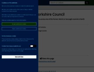 ryedale.gov.uk screenshot