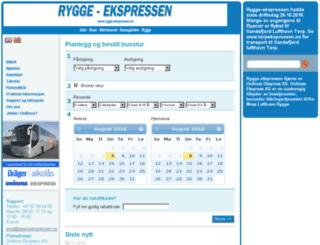 ryggeekspressen.no screenshot