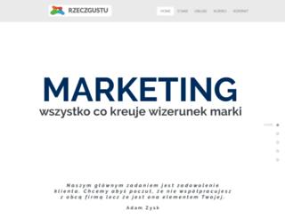 rzeczgustu.com.pl screenshot