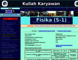 s1-fisika.kuliah-karyawan.co.id screenshot