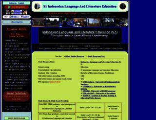 s1-indonesian-language-and-literature-education.sepakbola.biz screenshot