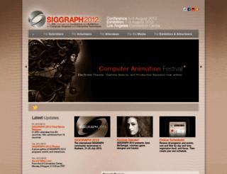 s2012.siggraph.org screenshot