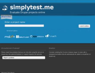 s3.simplytest.me screenshot