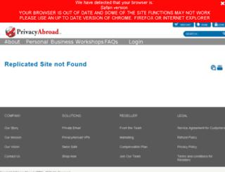 s3alpha.privacyabroad.com screenshot