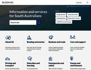 sa.gov.au screenshot