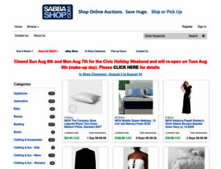 sabbashop.com screenshot