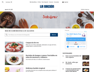 sabores.co.cr screenshot