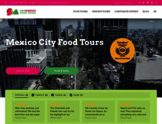 saboresmexicofoodtours.com screenshot