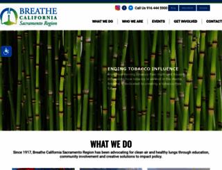 sacbreathe.org screenshot