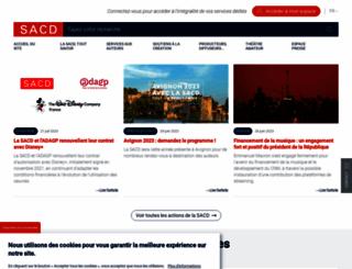 sacd.fr screenshot