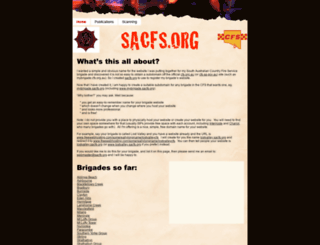 sacfs.org screenshot