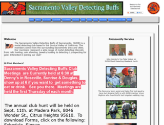 sacramentovalleydetectingbuffs.com screenshot
