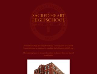 sacredhearthighschool.org screenshot