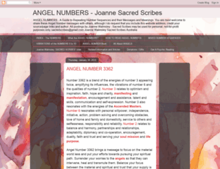 sacredscribesangelnumbers.blogspot.in screenshot