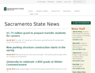 sacstatenews.csus.edu screenshot