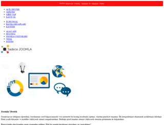 sadecejoomla.com screenshot