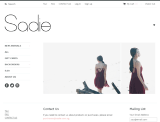 sadie.com.sg screenshot