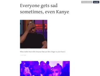 sadkanye.tumblr.com screenshot