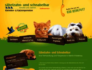 saebelzahn-und-schnabelbar.de screenshot