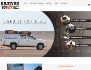 safari4x4hire.com screenshot