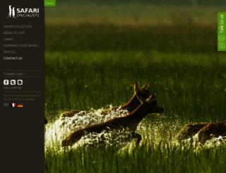 safarispecialists.net screenshot