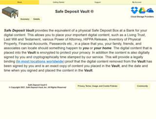 safedepositvault.com screenshot