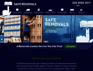 saferemovals.co.uk screenshot