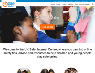 saferinternet.org.uk screenshot