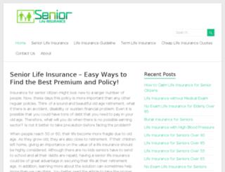 safeseniorlifeinsurance.com screenshot
