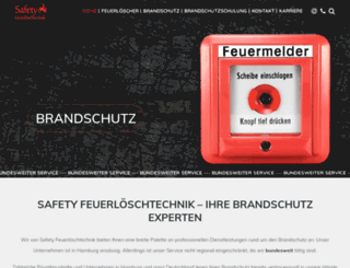 safety-feuerloeschtechnik.de screenshot