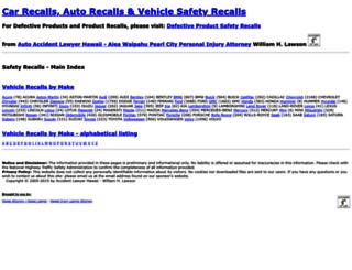 safety-recalls.com screenshot